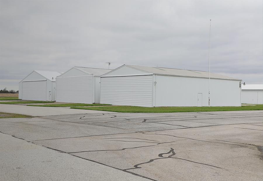 Aviation, three airplane hangars 900x620