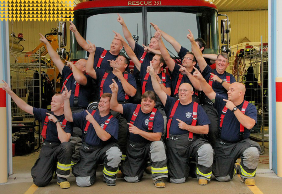 Kentland Fire Department Fun Group Shot