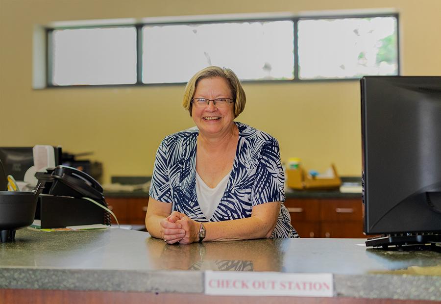 Kentland Public Library, Smiling Librarian