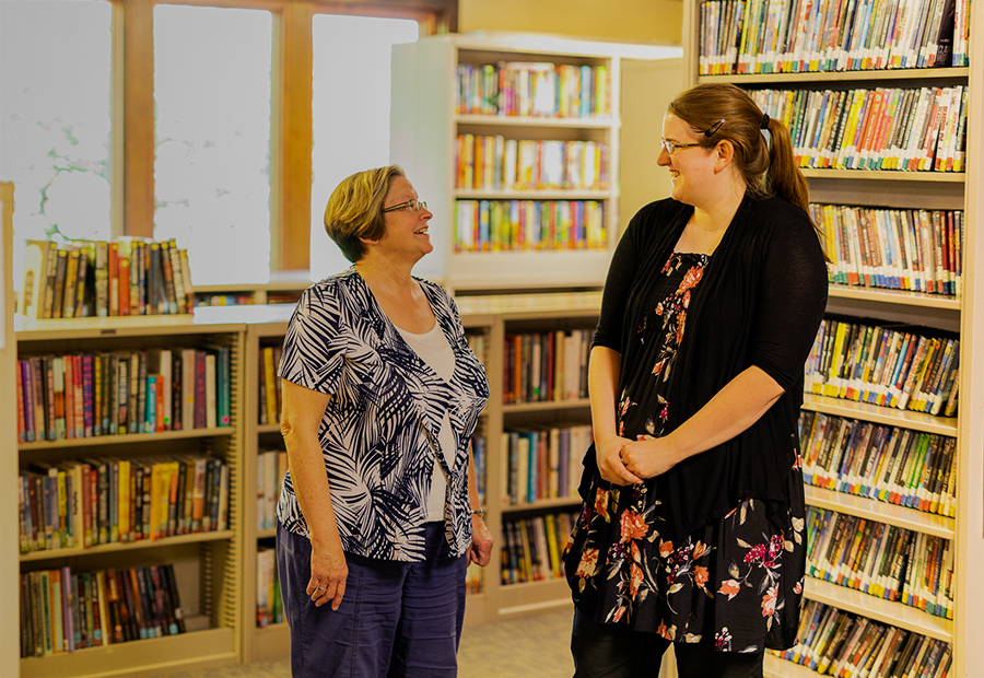 Kentland Public Library, Two Librarians Speaking with each other