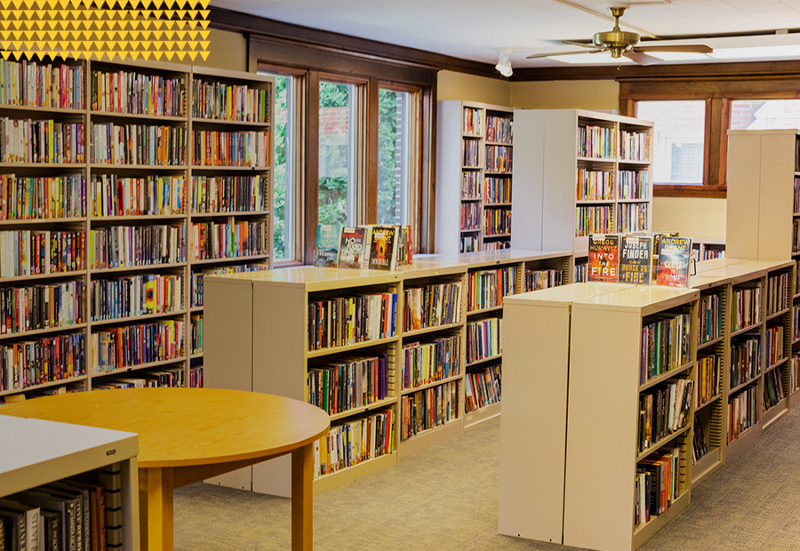Kentland Public Library, Shelves stocked with books