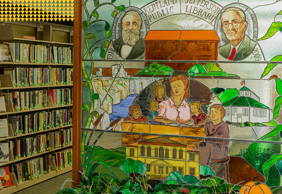 Kentland Public Library, Stained Glass Art
